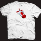 Funny F Bomb bad word hilarious comical military style t-shirt.  Size L