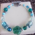 Aqua Blue Glass Bracelet
