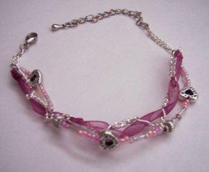 Satin n Hearts Bracelet