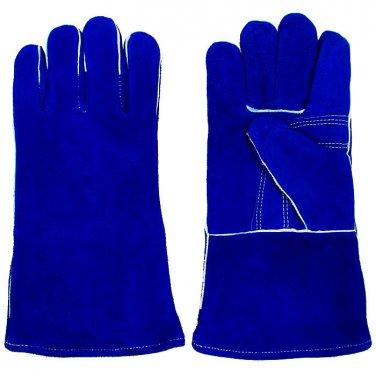 Welding Gloves Trademark Tools 100% Leather Premium Blue