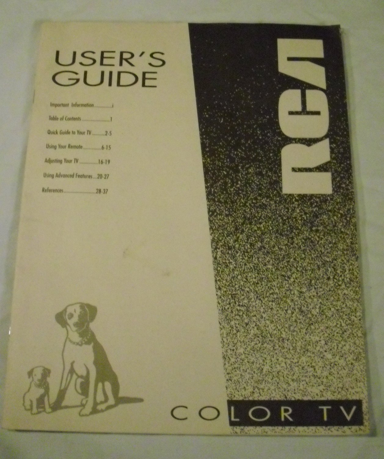 User's Guide 1994 RCA Color TV Manual Thomson Consumer Electronics, Inc.