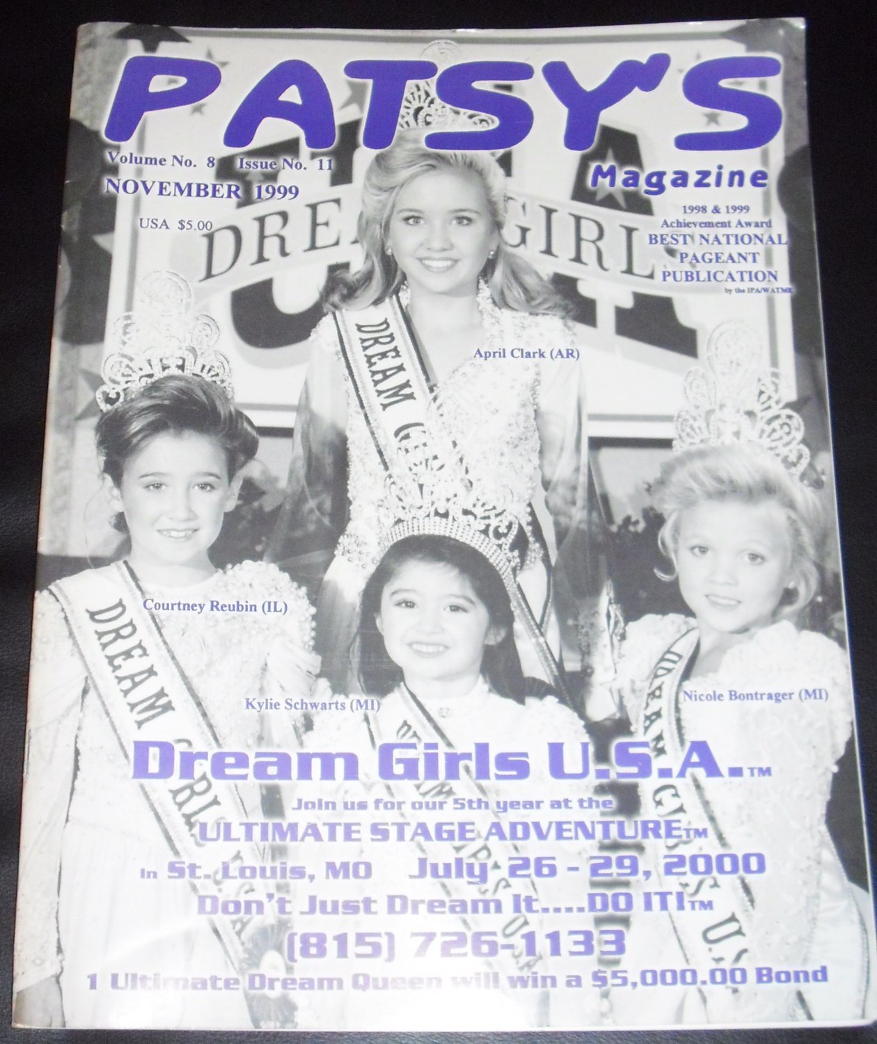 Patsy's Magazine November 1999, Volume No. 8, Issue No. 11