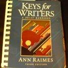 Keys for Writers by Ann Raimes (2002, Book)