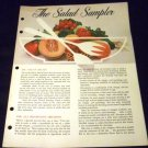 The Salad Sampler by General Foods Kitchen (1960, Paperback)