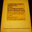 Laboratory manual for elementary mathematics [Paperback]