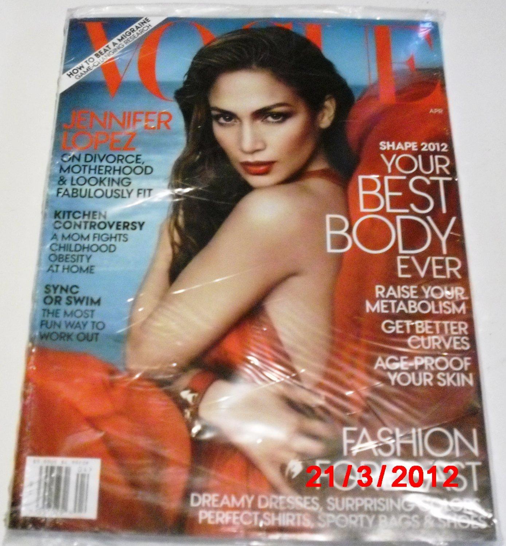 Brand new Vogue April 2012 (Jennifer Lopez)