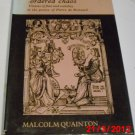 Ronsard's Ordered Chaos:...Poetry of Pierre de Ronsard by Malcolm Quainton (Hardcover 1990)