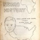 Negro History Vaux Junior High School by Clifford Lumm and Associates (Paperback, 1964)