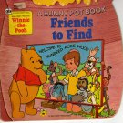 WINNIE-THE-POOH: FRIENDS TO FIND (A HUNNY POT BOOK) by WALT DISNEY (Paperback - 1979)