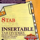 Wilson Jones 8 Tab Clear Insertable Tab Dividers, Gold Line Single Reinforced