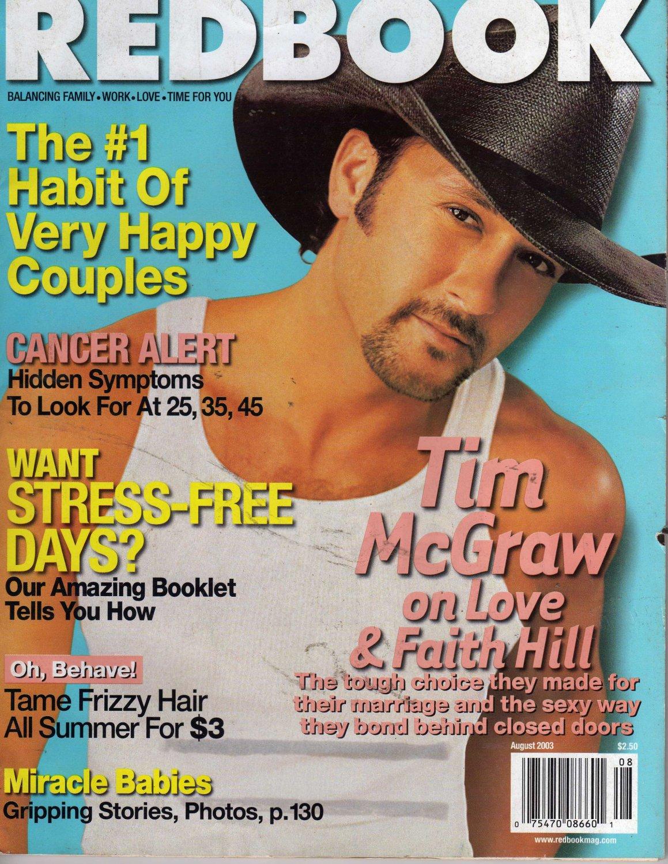 Redbook Magazine August 2003 TIM McGRAW