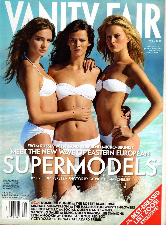 Vanity Fair Magazine - April 2005: Meet the New Wave of Eastern European Supermodels!