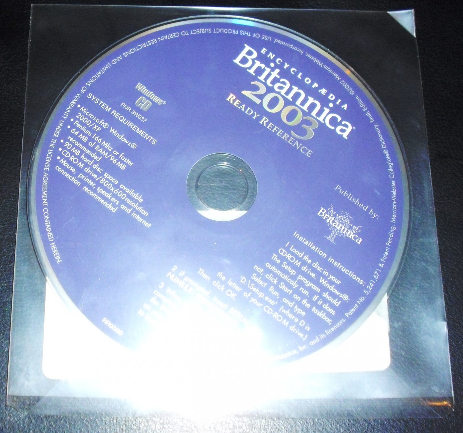 Encyclopedia Britannica 2003 Ready Reference CD-ROM by Encyclopaedia Britannica