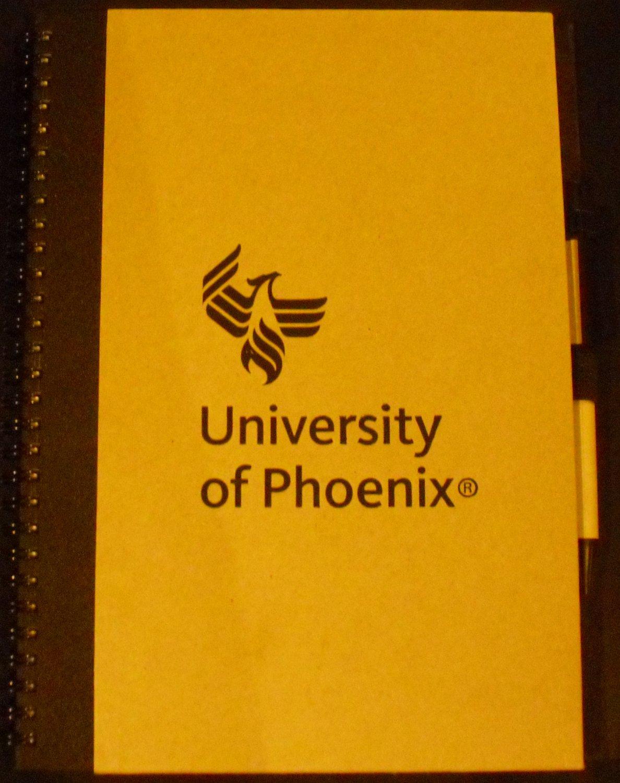 Unversity of Phoenix Notebook & Pen