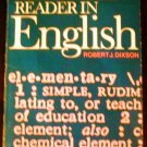 Elementary Reader in English by Robert J. Dixson (Paperback 1983)