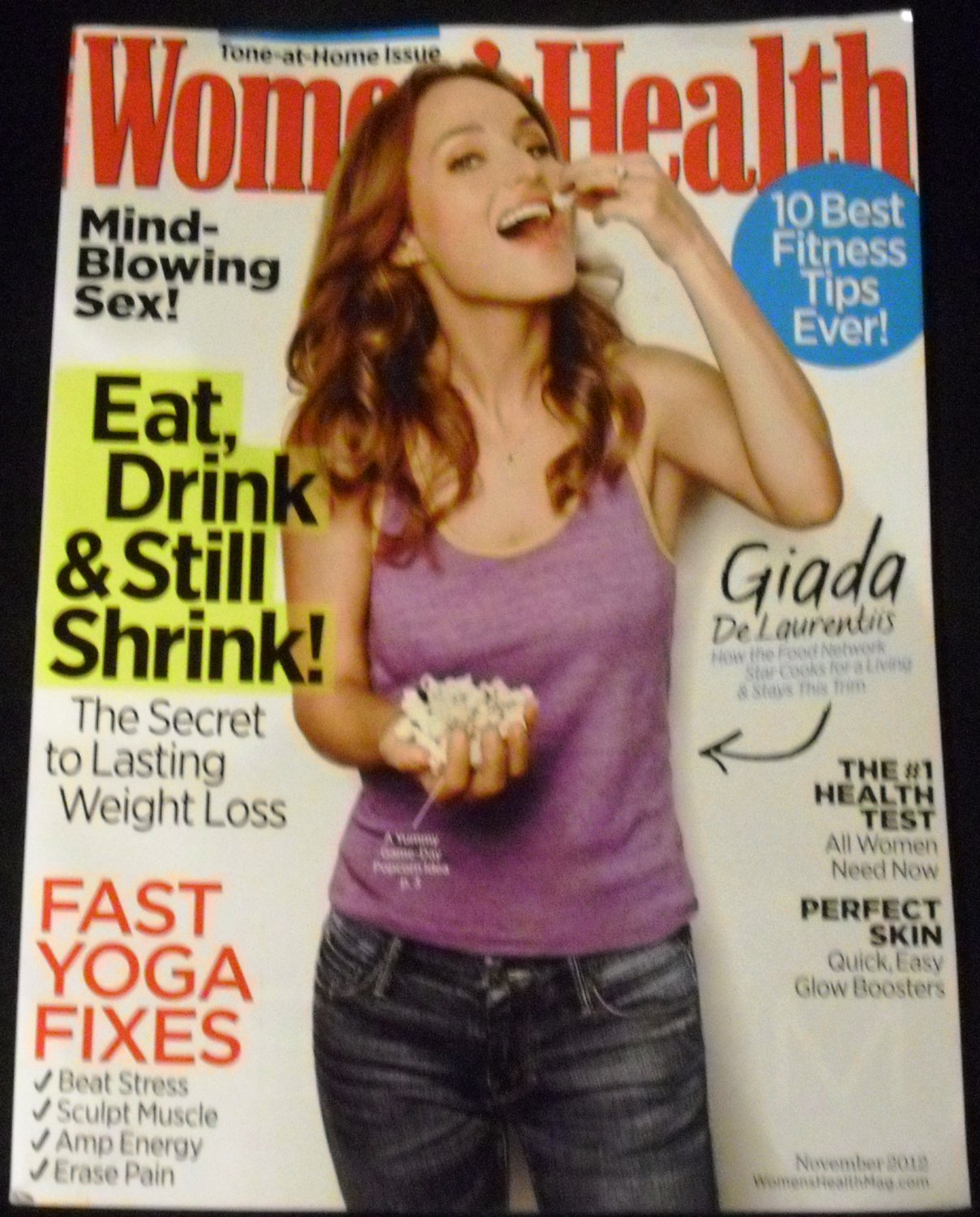 Women's Health Magazine (November 2012) Giada DeLaurentiis