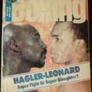 World Boxing Magazine May 1987 Hagler-Leonard