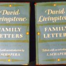 DAVID LIVINGSTONE: Family Letters VOL I: 1841-1848; VOL II: 1849-1856 (Hardcover) by I. Schapera