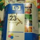 HP 23 Tri-Color Ink Cartridge in Retail Packaging