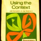 Using the Context PREPARATORY (Specific Skill Series) by Richard A. Boning (1978)