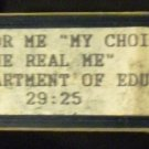 "Just for me ""My Choice"" and ""The Real Me"" (VHS) PA department of education"