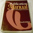 Publication Manual of the American Psychological Association, Fourth Edition [Paperback] Morgan ones
