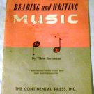 Reading and Writing Music, Book 1: Using Relative Solmization by Dr. Tibor Bachmann (1968)