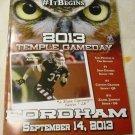 Temple University Football v. Fordham September 14, 2013 Publication