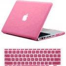 "Pink Hard Cover Crystal case for Macbook AIR 11"" & Keypad skin"