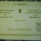 Dexterity Exercises & Dances for Recorders in C (Soprano & Tenor) by G. Rooda (1959)