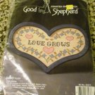 "*New* Counted Cross stitch Good Shepherd - Love Grows patterns 7""x 10"""