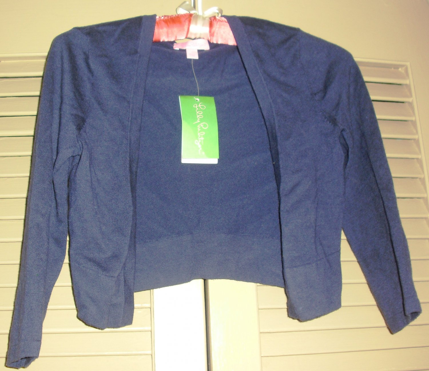 Brand new! Lilly Pulitzer Girls Navy Blue Danielle Cardigan size S