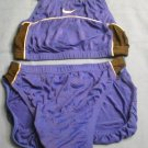 Nike Two Piece Athletic Swimsuit Bikini Size 6 - Blue, black and silver