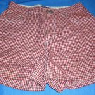 Preppy Tommy Hilfiger Womens Red and White Gingham Shorts Size 2