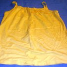 LANDS END Girls Yellow ruffle tank top Shirt Sz. Small 7-8