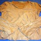 Energie Tan Long Sleeved V neck Shirt Size Medium