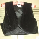 Karen Lucas Collection Black Velvet Vest Size 10