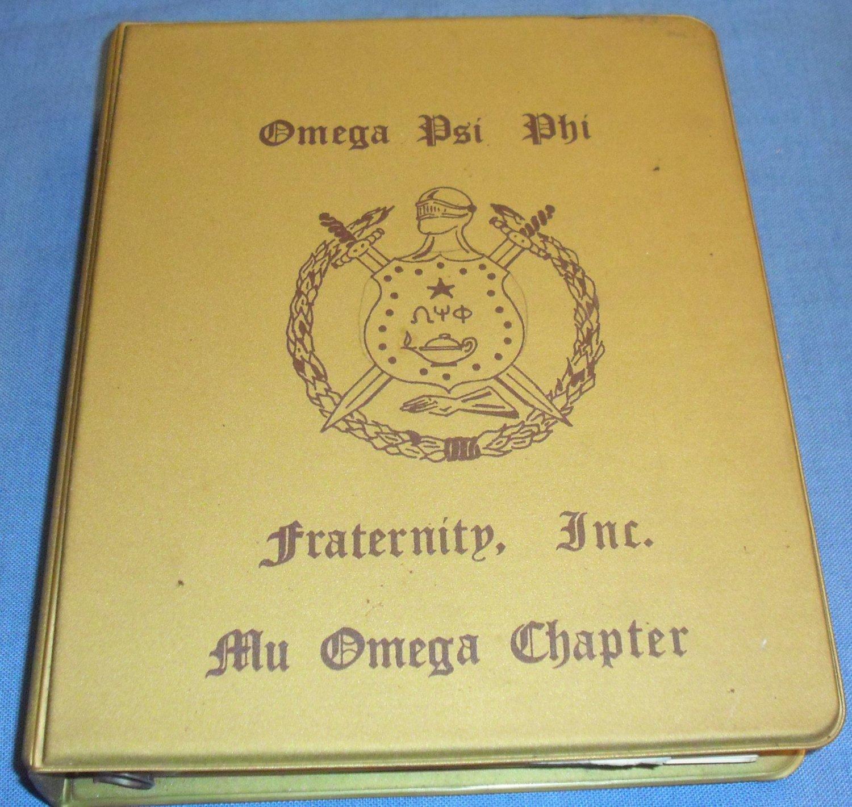 Omega Psi Phi Fraternity, Inc., Mu Omega Chapter Handbook, September 1979