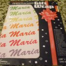"""Personalized Gift Wrap - Maria 20"""" x 28"""" One sheet"""