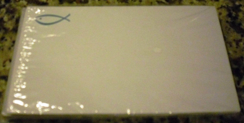 Jesus Fish motif Christian Notecards Stationery, 25 notecards & envelopes NC16