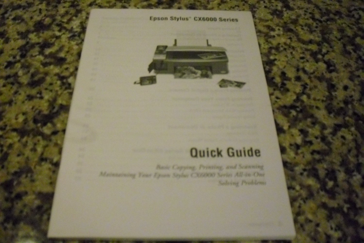 Epson Stylus CX600 Series Quick Guide Manual