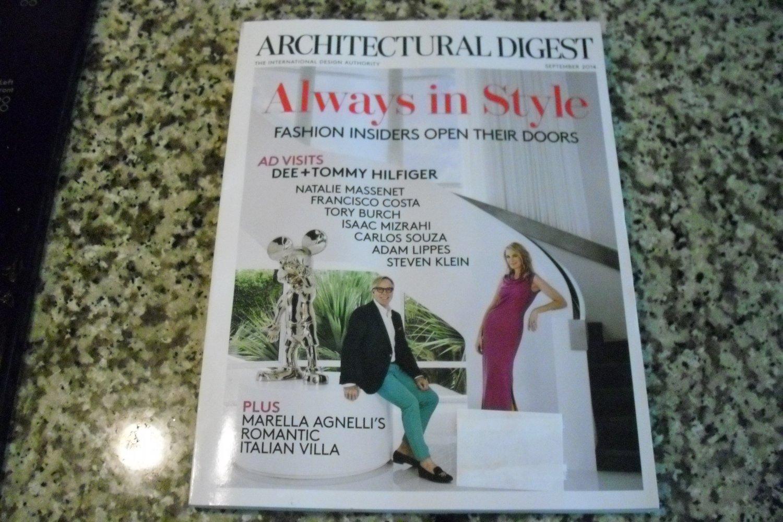 Architectural Digest Magazine September 2014 Always in Style