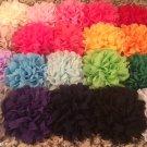 Chiffon Flower Set of 8 - DIY, Craft, bow, headband