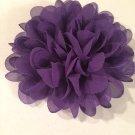 Chiffon Flower - purple - DIY, Craft, bow, headband