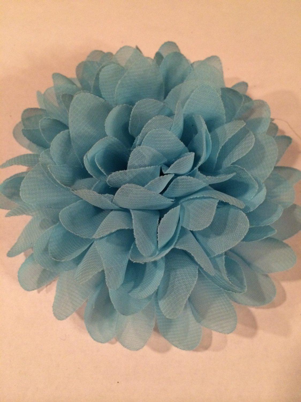 Chiffon Flower - blue - DIY, Craft, bow, headband