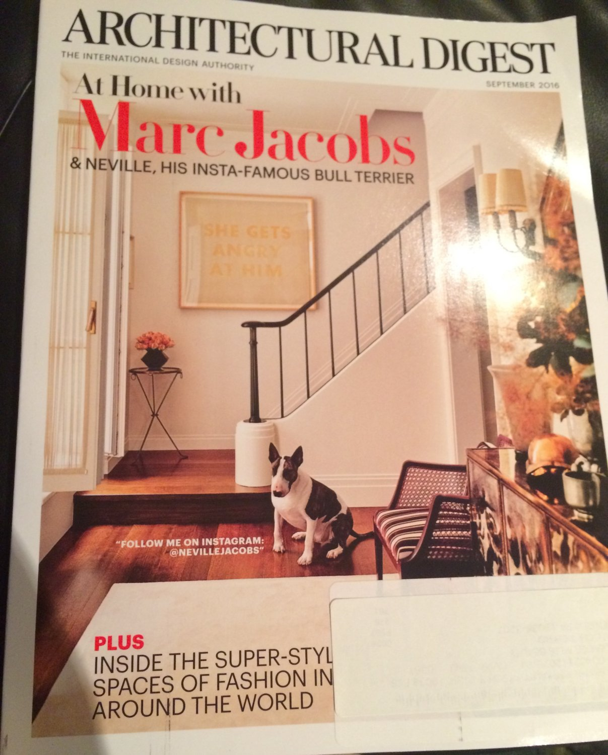 Architectural Digest Magazine September 2016 Marc Jacobs