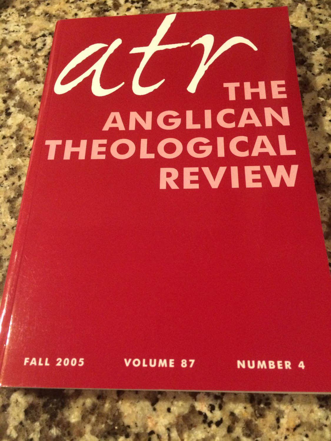 ATR The Anglican Theological Review Fall 2005 Volume 87 Number 4 by P. Marshall & G. Sumner