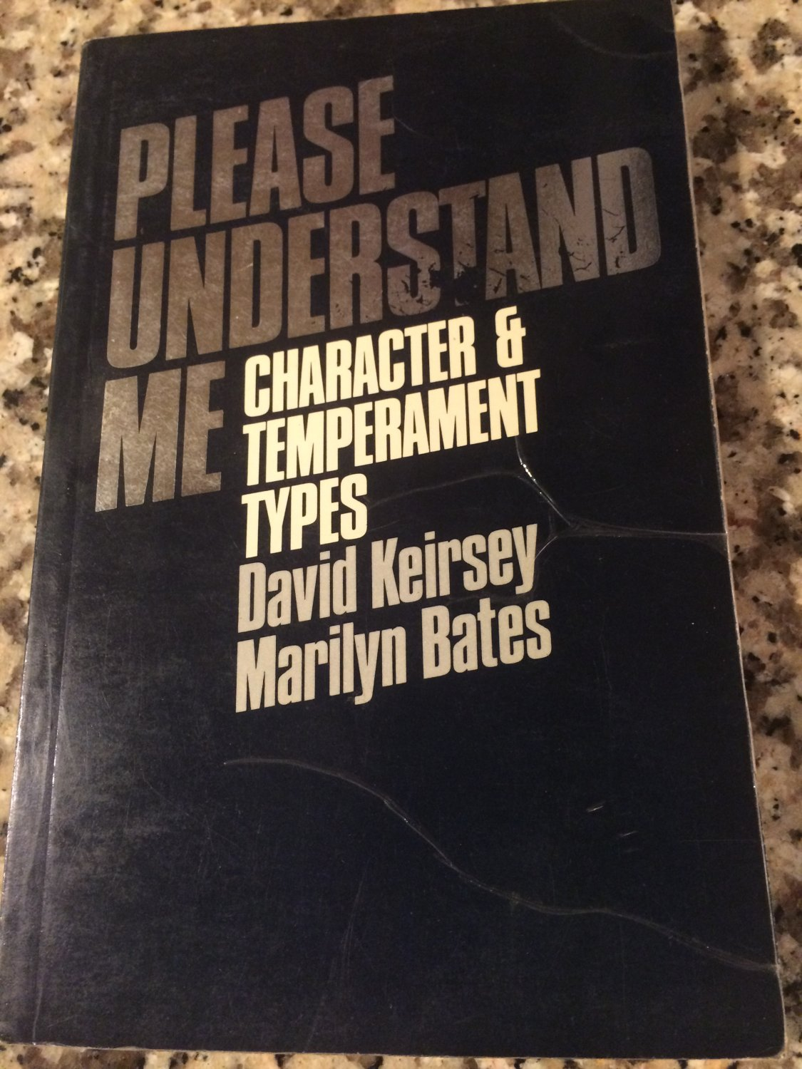 please understand me kiersey Compare book prices from over 100,000 booksellers find please understand me: character and temperament type (0960695400) by david keirsey marily.
