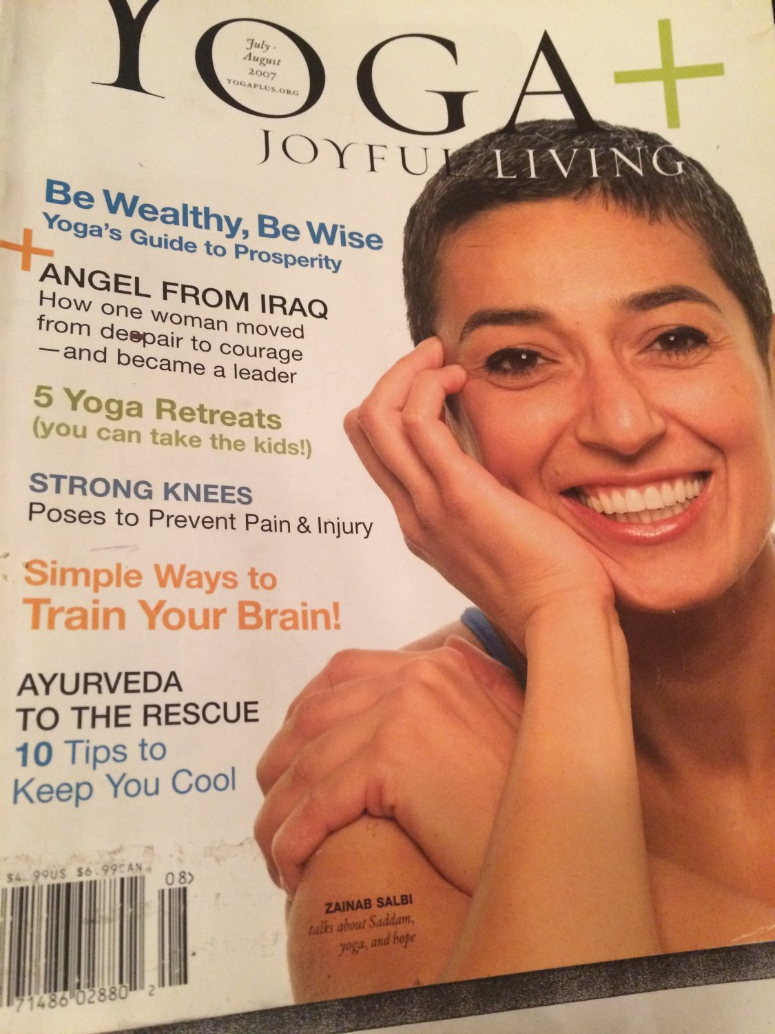 YOGA JOYFUL LIVING MAGAZINE, JULY - AUGUST 2007, #96, be wealthy, be wise, anger from Iraq