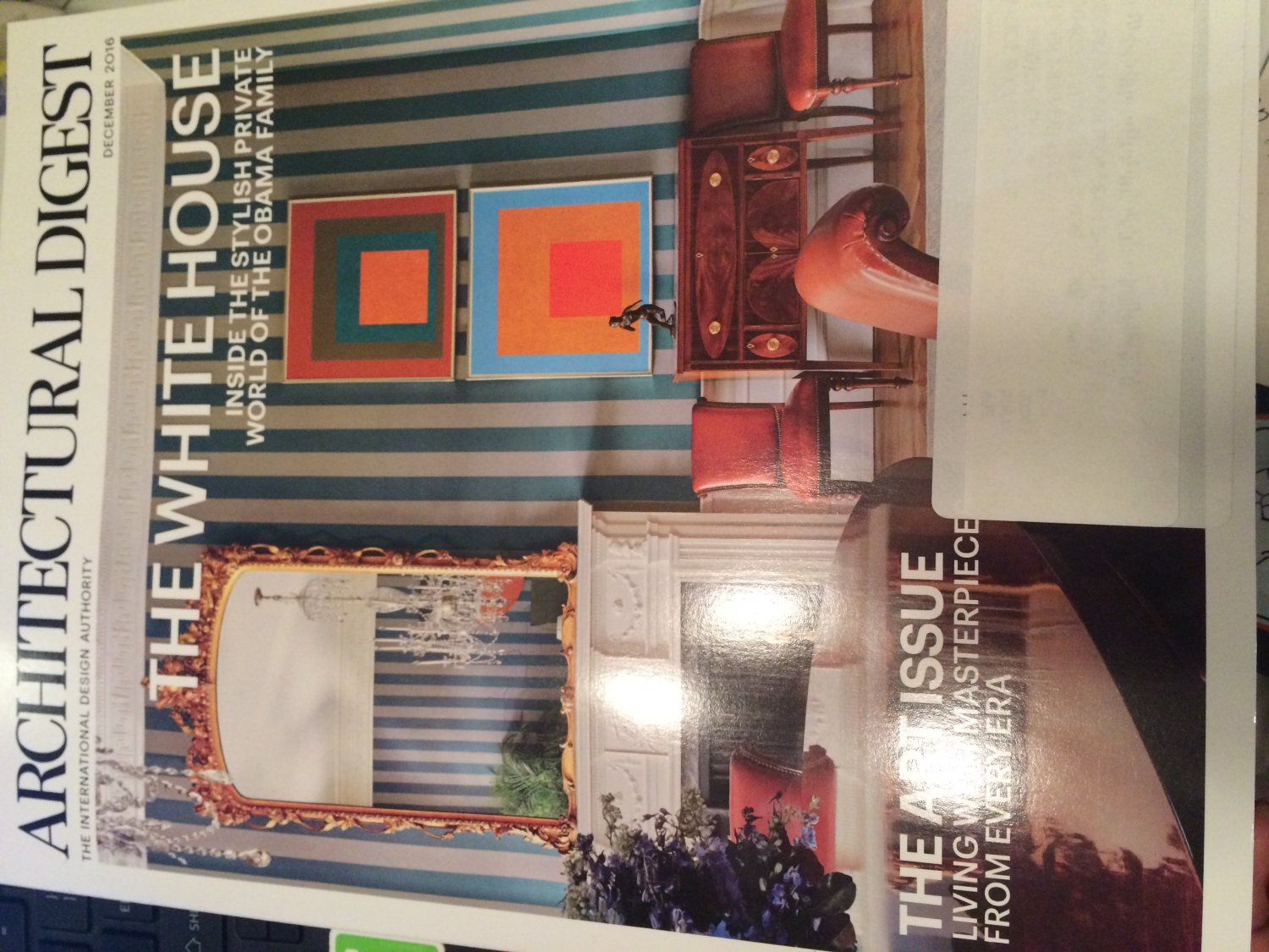Architectural Digest Magazine (December, 2016) The White House